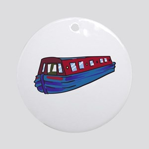 NARROW BOAT Round Ornament