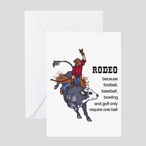 RODEO REQUIRES TWO Greeting Cards