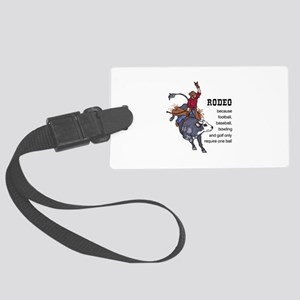 RODEO REQUIRES TWO Luggage Tag