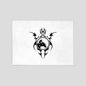 atv tattoo 5'x7'Area Rug