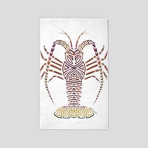 Tribal Caribbean Lobster Area Rug