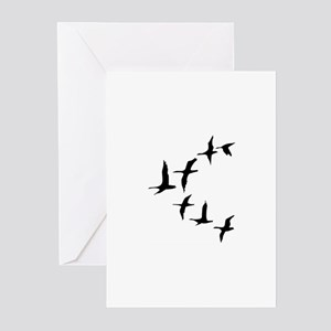 DUCKS IN FLIGHT Greeting Cards
