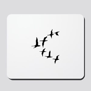 DUCKS IN FLIGHT Mousepad