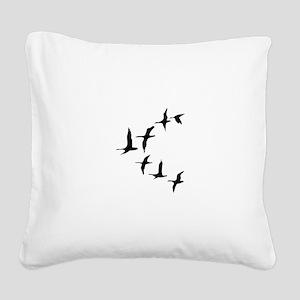 DUCKS IN FLIGHT Square Canvas Pillow