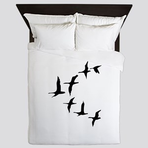 DUCKS IN FLIGHT Queen Duvet
