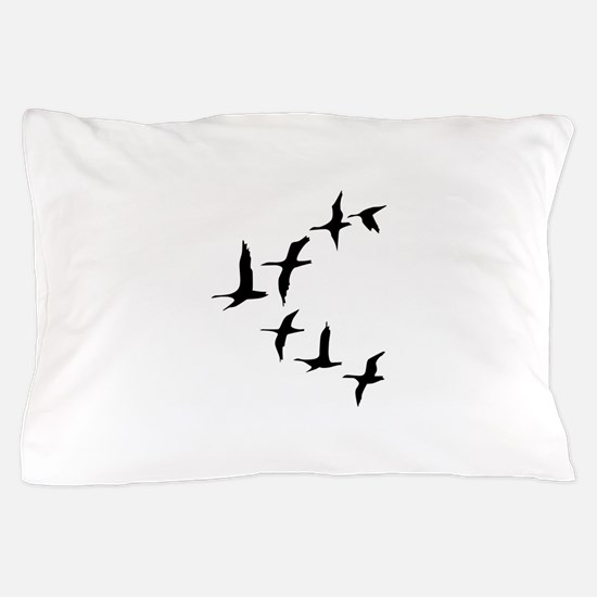 DUCKS IN FLIGHT Pillow Case