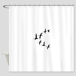 DUCKS IN FLIGHT Shower Curtain