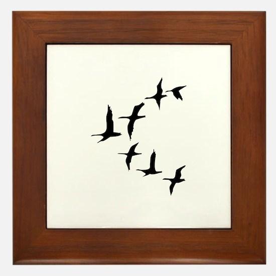 DUCKS IN FLIGHT Framed Tile