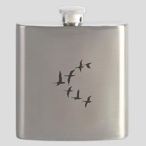 DUCKS IN FLIGHT Flask