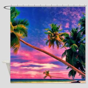Dreamlike Maldives Shower Curtain