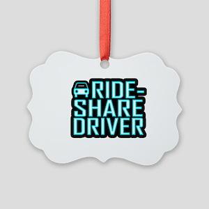 Ride Share Driver Rideshare Drivi Picture Ornament