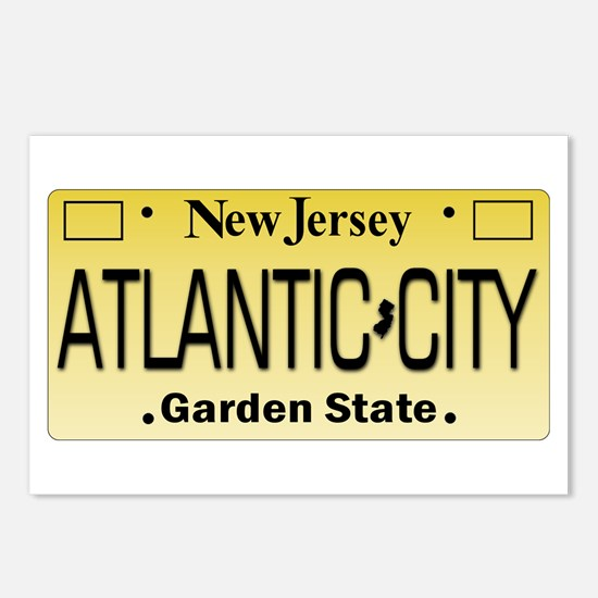 Atlantic City NJ Tag Gift Postcards (Package of 8)