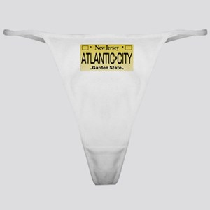 Atlantic City NJ Tag Apparel Classic Thong
