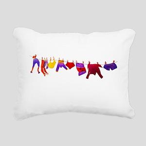 Kids clothes drying Rectangular Canvas Pillow