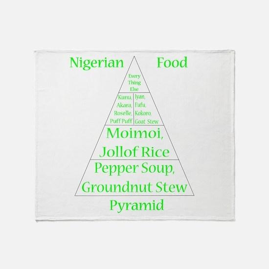 Nigerian Food Pyramid Throw Blanket