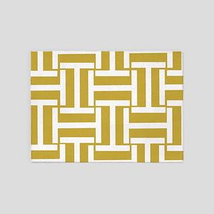 Dark Gold T Weave 5'x7'Area Rug