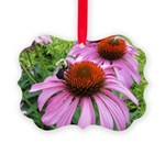Bumblebee on Purple Illinois Coneflower Ornament