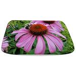 Bumblebee on Purple Illinois Coneflower Bathmat