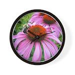 Bumblebee on Purple Illinois Coneflower Wall Clock