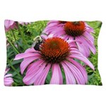 Bumblebee on Purple Illinois Coneflower Pillow Cas