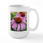 Bumblebee on Purple Illinois Coneflower Mugs