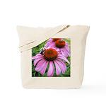 Bumblebee on Purple Illinois Coneflower Tote Bag