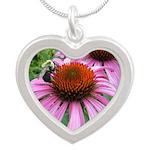 Bumblebee on Purple Illinois Coneflower Necklaces