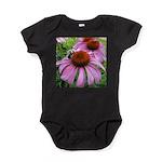 Bumblebee on Purple Illinois Coneflower Baby Bodys