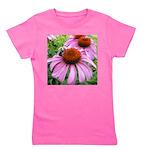 Bumblebee on Purple Illinois Coneflower Girl's Tee