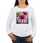 Bumblebee on Purple Illinois Coneflower Long Sleev