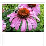 Bumblebee on Purple Illinois Coneflower Yard Sign