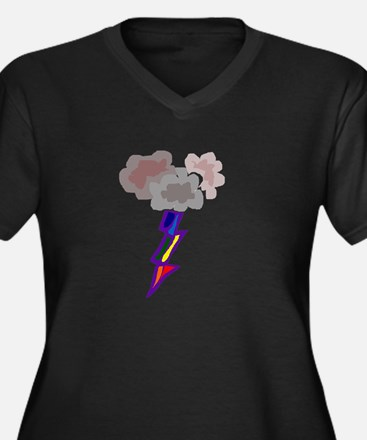 Fun Thunderstorm and Lightning A Plus Size T-Shirt