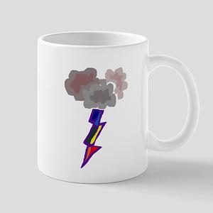 Fun Thunderstorm and Lightning Art Mugs