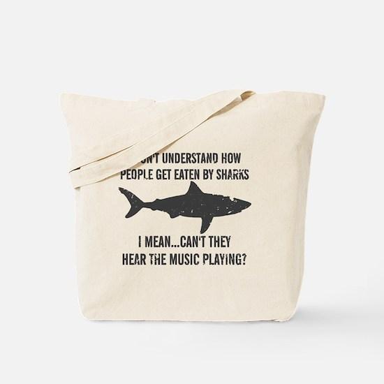 Cute Crazy shark Tote Bag