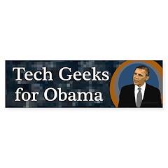Tech Geeks for Barack Obama sticker