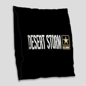 U.S. Army: Desert Storm (Black Burlap Throw Pillow