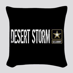 U.S. Army: Desert Storm (Black Woven Throw Pillow