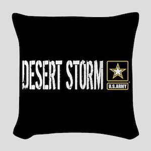 U.S. Army: Desert Storm (Black Woven Throw Pillow