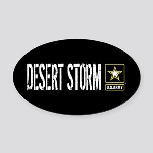 U.S. Army: Desert Storm (Black) Oval Car Magnet