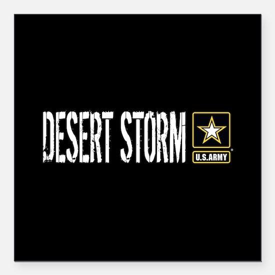U.S. Army: Desert Storm Square Car Magnet 3" x 3"
