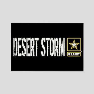 U.S. Army: Desert Storm (Black) Rectangle Magnet