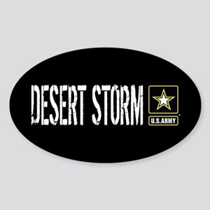 U.S. Army: Desert Storm (Black) Sticker (Oval)