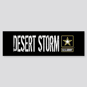 U.S. Army: Desert Storm (Black) Sticker (Bumper)