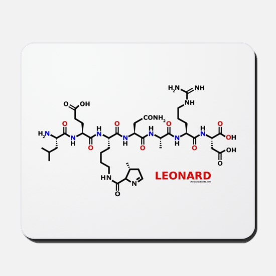 Leonard name molecule Mousepad