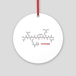 Leonard name molecule Ornament (Round)