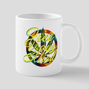 free your mind, marijuana peace sign Mugs