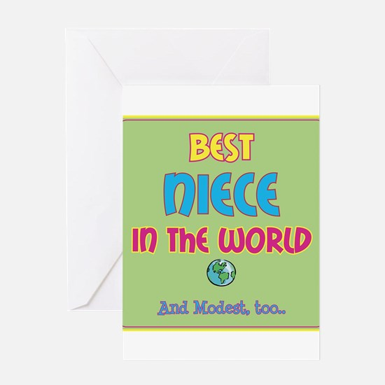 Best Niece and Modest Greeting Cards