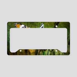 spring daisy yellow butterfly License Plate Holder