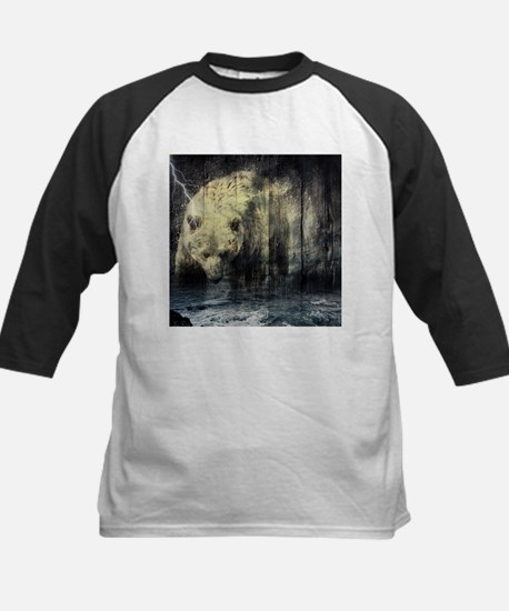 cabin rustic grizzly bear Baseball Jersey