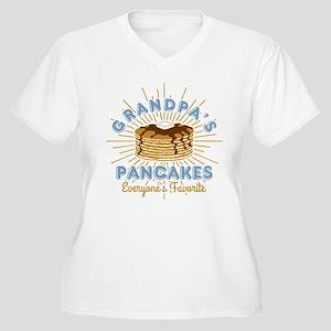 Grandpa's Pancake Women's Plus Size V-Neck T-Shirt